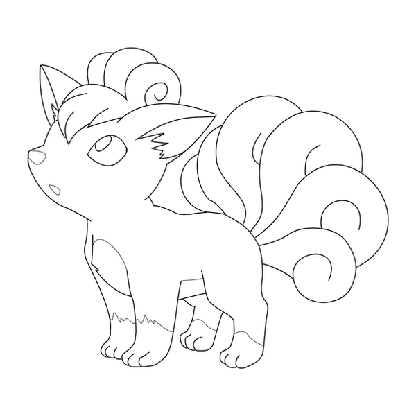 vulpix coloring pages - vulpix and ninetales coloring pages coloring pages
