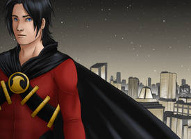 Red Robin - Gotham Night by Xinjay