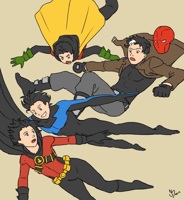 Free-falling Robins by Xinjay