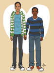 Animated Troy and Abed!