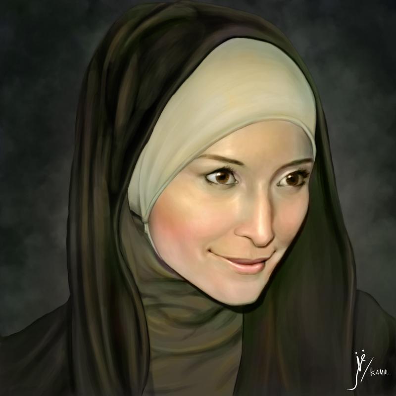 Portrait of Inneke Koesherawati by Fihril