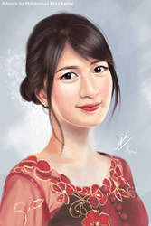 Portrait of Vienny JKT48 Wearing Kebaya