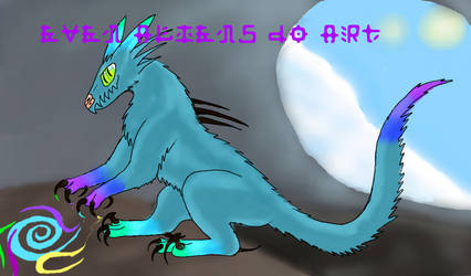 Cynoraptor alien: Even aliens do art! by Hypergriff