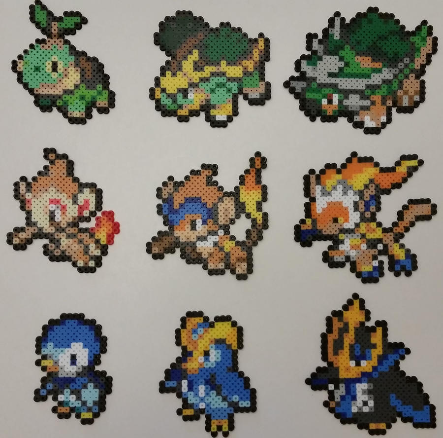 Pokemon Diamond And Pearl Starters Perlers 625545370