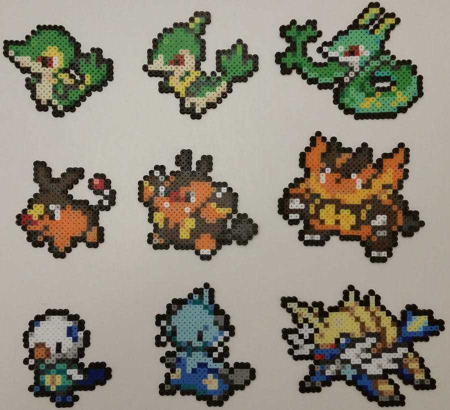 Pokemon Black And White Starters Perlers 626513523