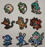 Pokemon Sun and Moon Starters Perlers