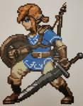 Legend of Zelda Breath of the Wild Link Perler