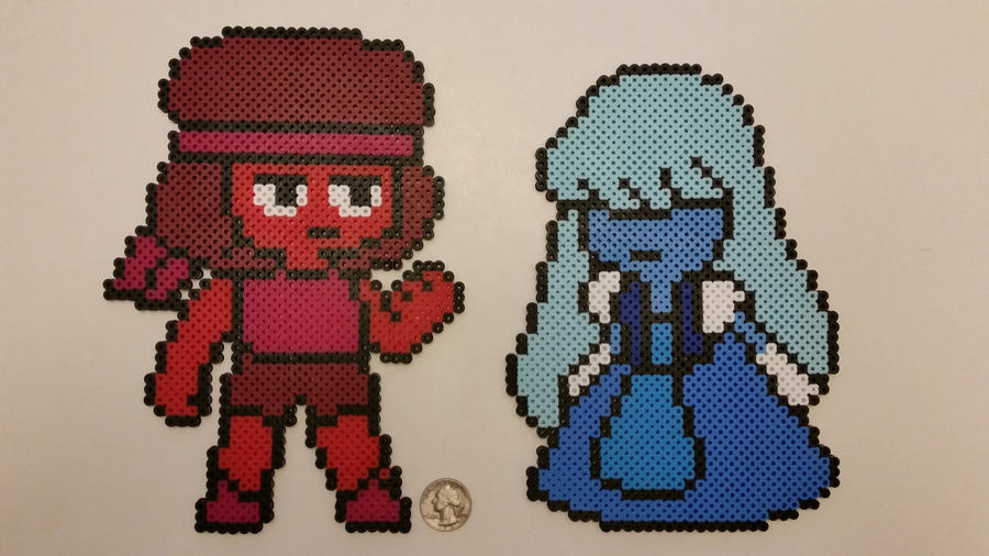 I figure it was time to add some more Steven Universe perlers. I found some patterns on Kandi Patterns to base these off of. I simplified the colors to make the look closer to my original perlers. ...
