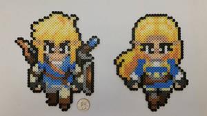 Breath of the Wild Link and Zelda Perlers
