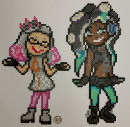 Splatoon Pearl and Marina Perlers by jrfromdallas