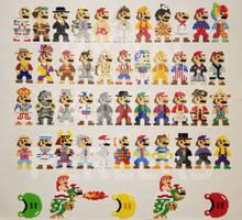 Super Mario Odyssey 8-bit Perler Collection by jrfromdallas
