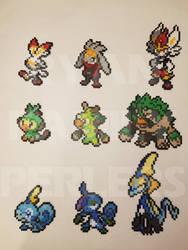 Pokemon Sword and Shield Starter Perlers