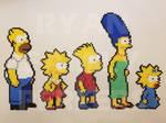 Simpsons Perlers by jrfromdallas