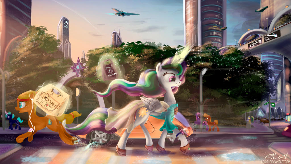 Pony art of the non diabetic variety.  - Page 26 Walk_after_the_rain_by_eriadu-d9yrczx