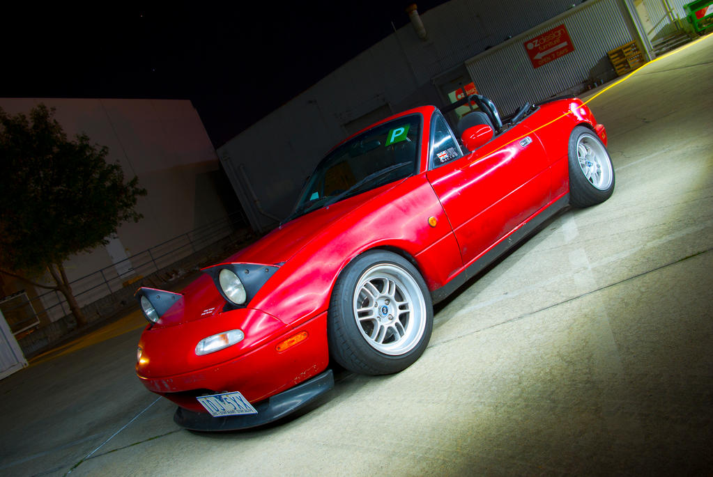 Red MX-5 Photoshoot by presti