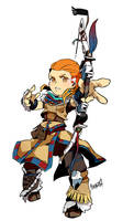 Etrian Odyssey: The Zero Dawn - Aloy by nivlacart