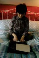 typewriter girl by rainbowlullaby