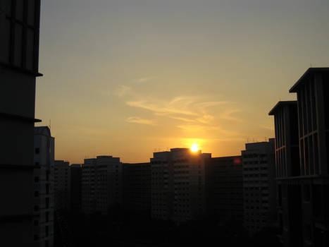 Singapore Sunset frm my window