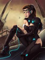 Sci-Fi girl by AyyaSAP