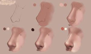 Nose Tutorial Photoshop by AyyaSAP