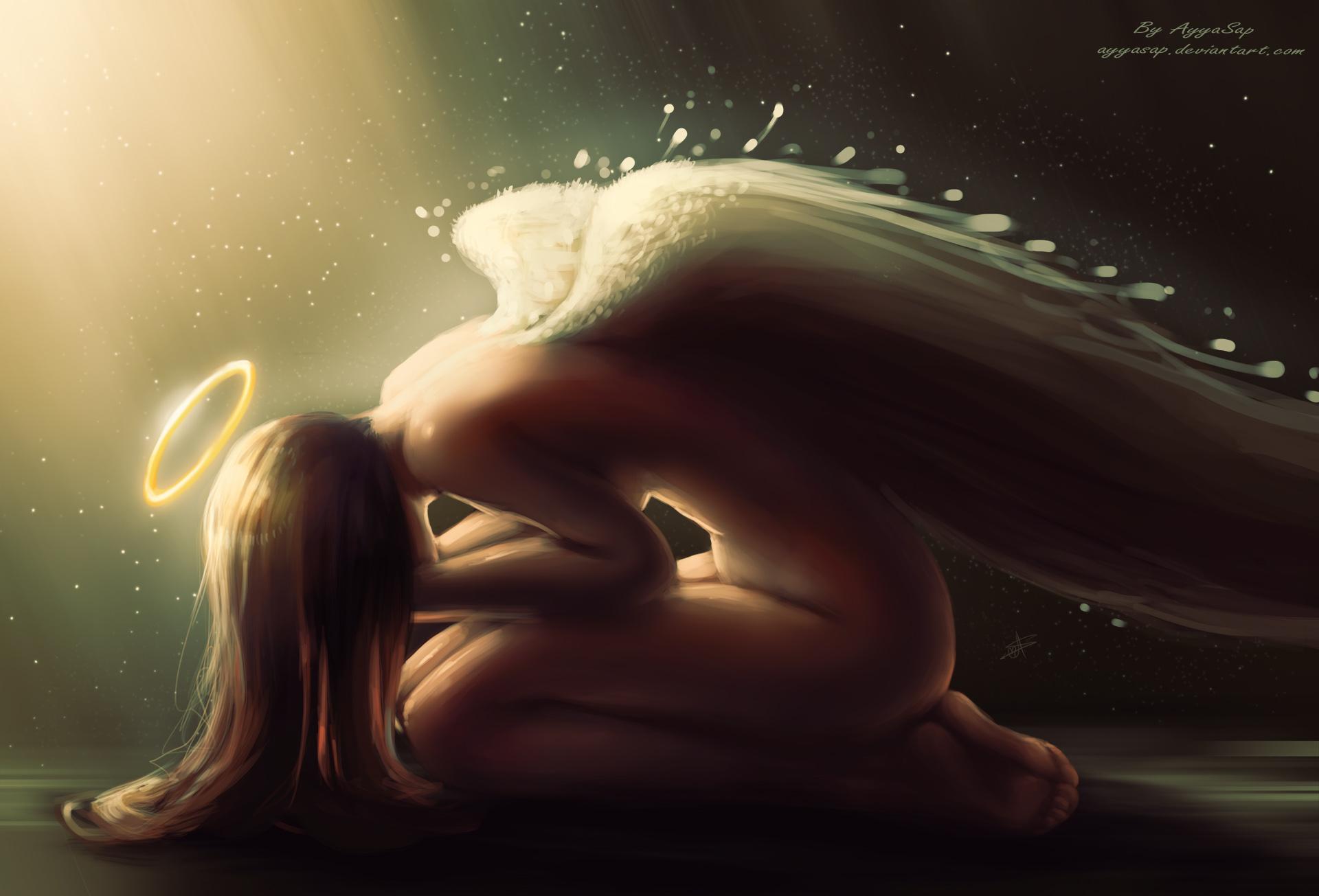 Sad Angel Paintings Sad Angel by Ayyasap