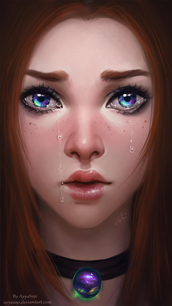 weeping eyes by AyyaSAP