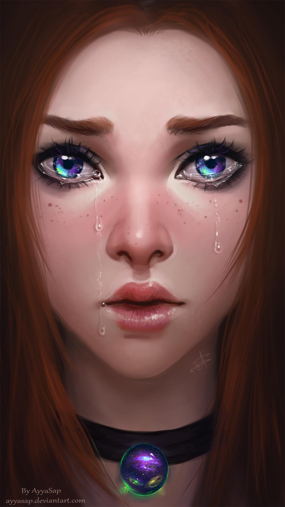 weeping eyes by AyyaSAP