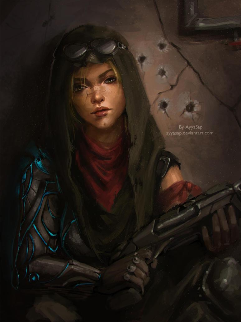 Sci Fi Warrior Woman By Ayyasap On Deviantart