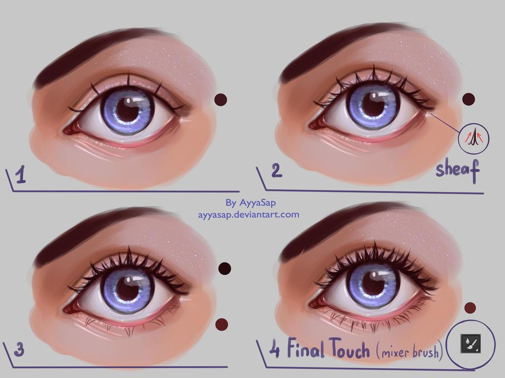 Eyelashes tutorial by ayyasap on deviantart eyelashes tutorial by ayyasap baditri Image collections