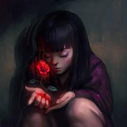 Red Rose by AyyaSAP