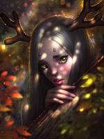Forest deer by AyyaSAP