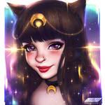 Zayra Black (portrait) by AyyaSAP