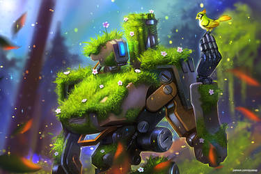Bastion and Ganymede (commission) by AyyaSAP