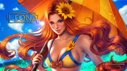 Pool party Leona /commission/