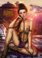 Slavegirl Leia by AyyaSAP