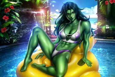 She-Hulk (bikini) by AyyaSAP