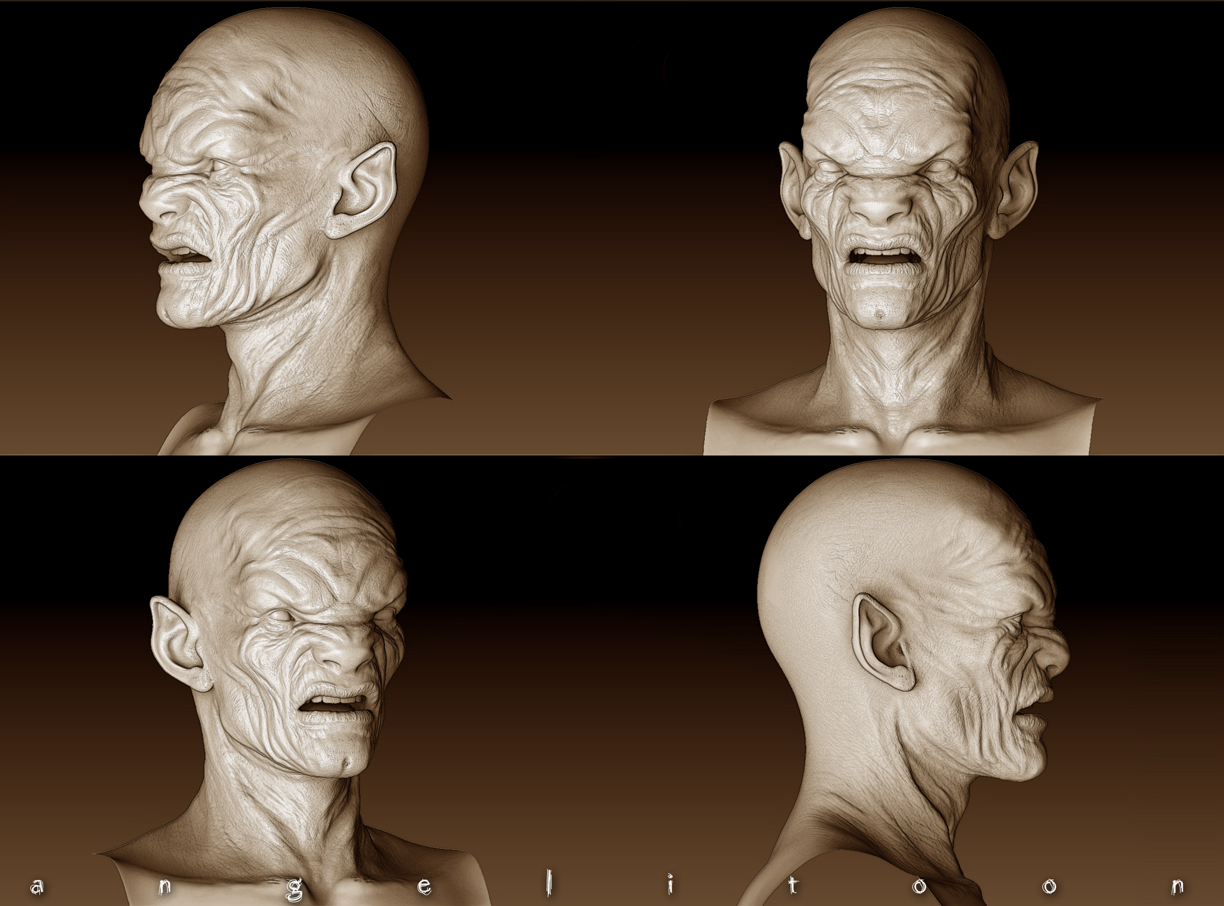 Zbrush With Crack Zbrush Demon By Angelitoon Dwal