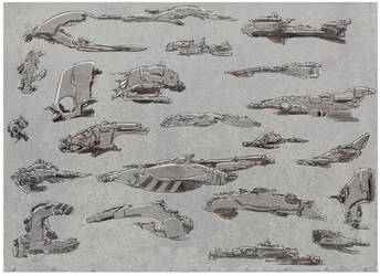 concept ship designs by angelitoon