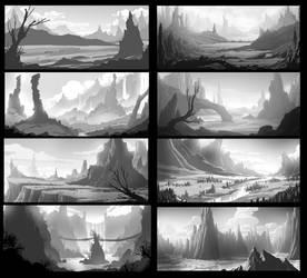 Scenery Thumbnails Practice