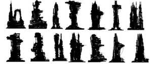 Shapes scifi city 02