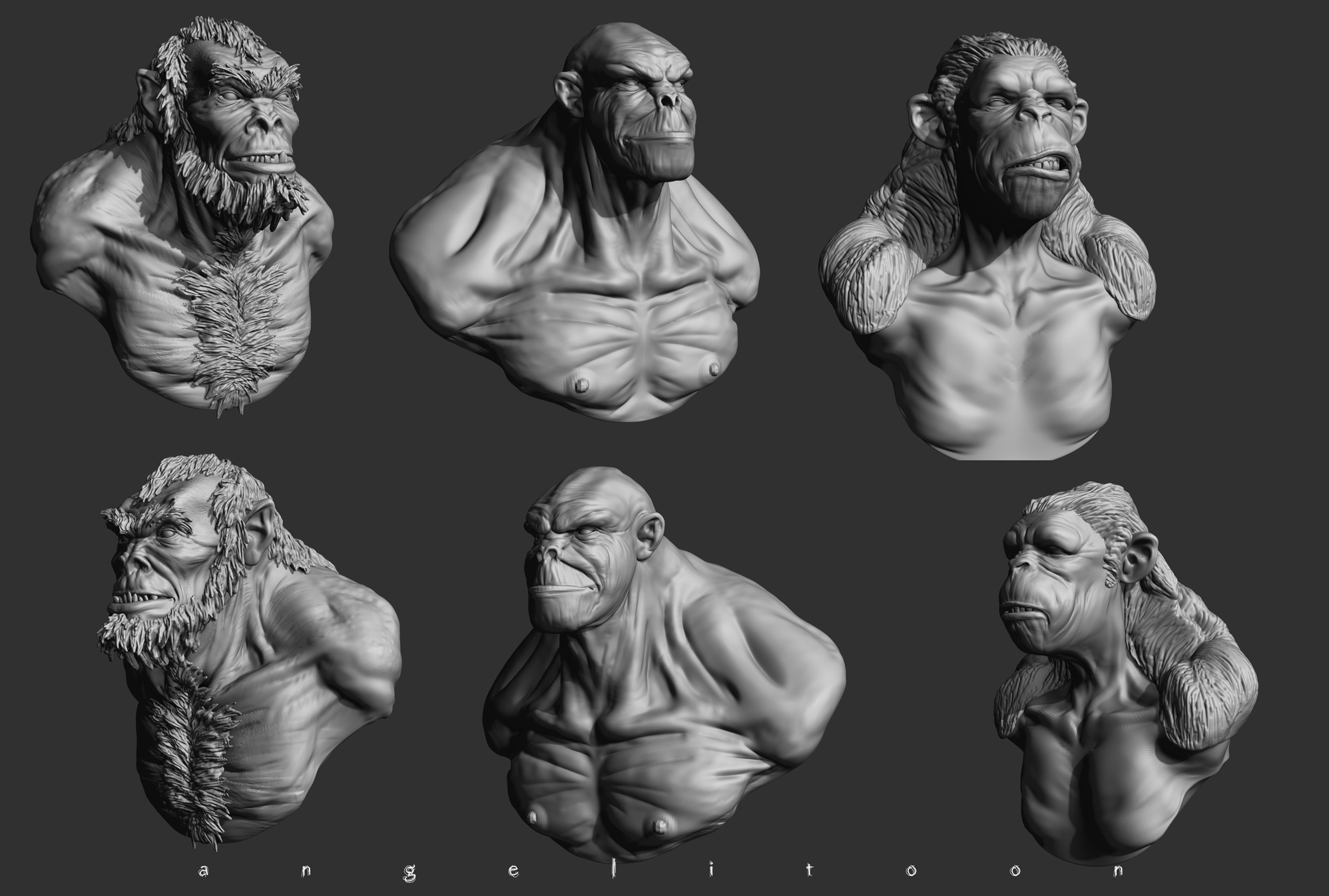ZBRUSH SCULPT TEST 01 by angelitoon