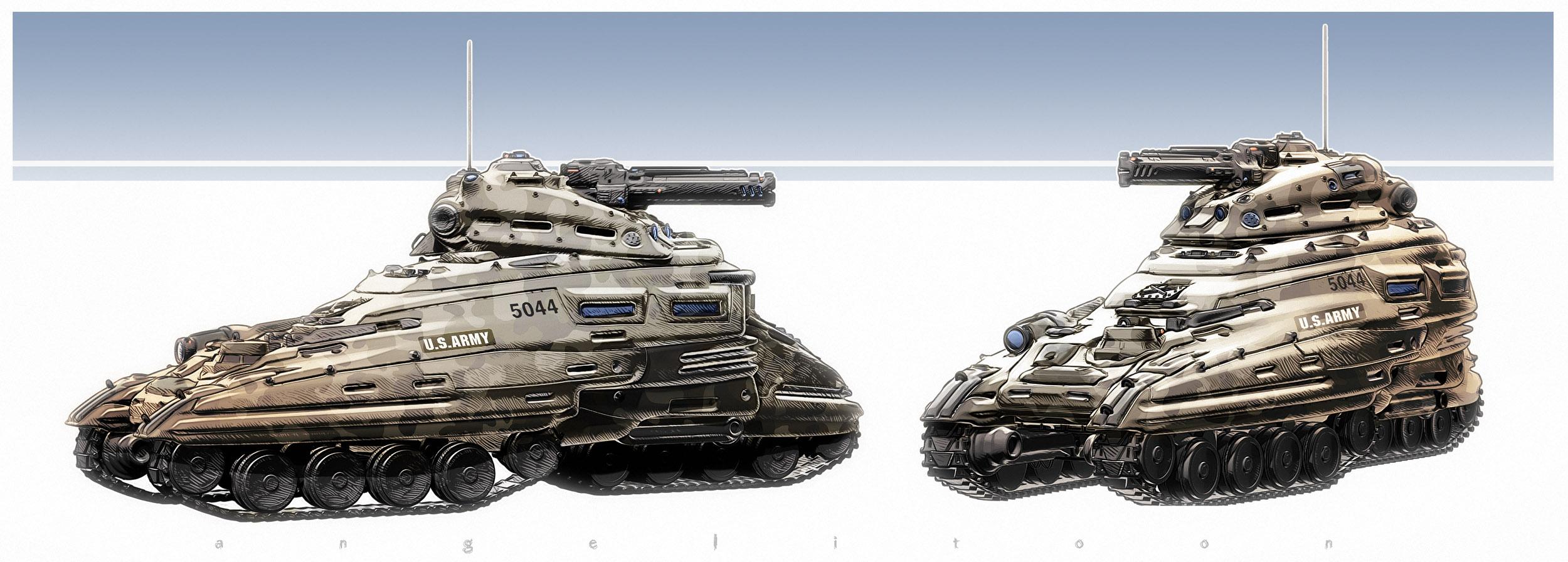 Sci fi Tank by angelitoon