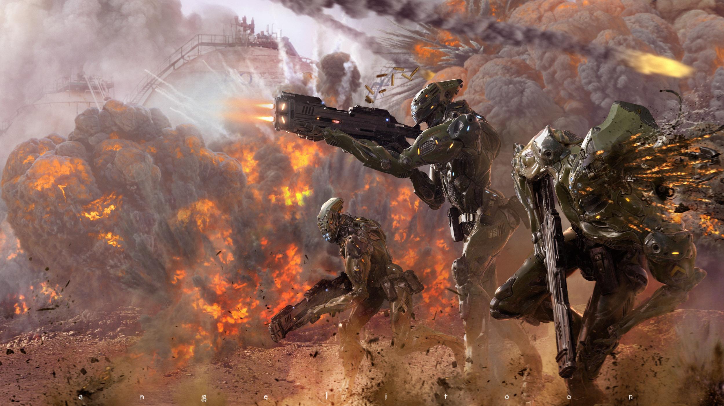TOTAL WAR (Assault Troop V.2) by angelitoon