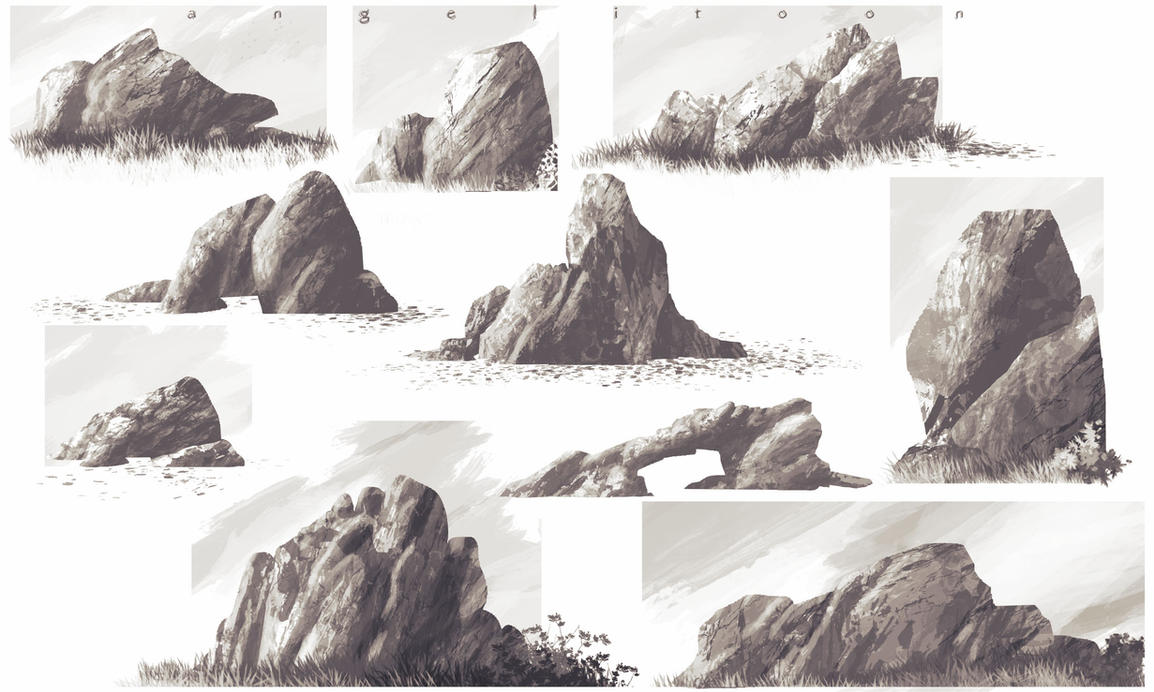 Rocks Study by angelitoon