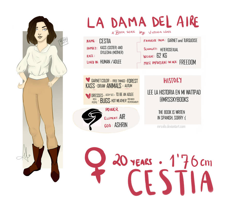 Character Sheet: Cestia (OC) by mrsvilo on DeviantArt
