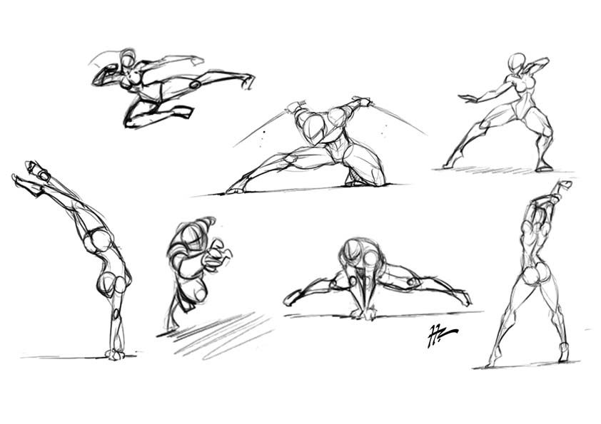 Sketch dump body language by blunt katana on deviantart for Body movement drawing
