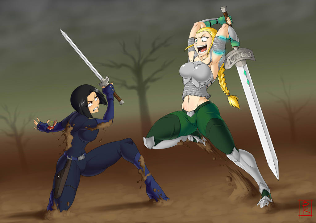 Commission: Battle On by Blunt-Katana