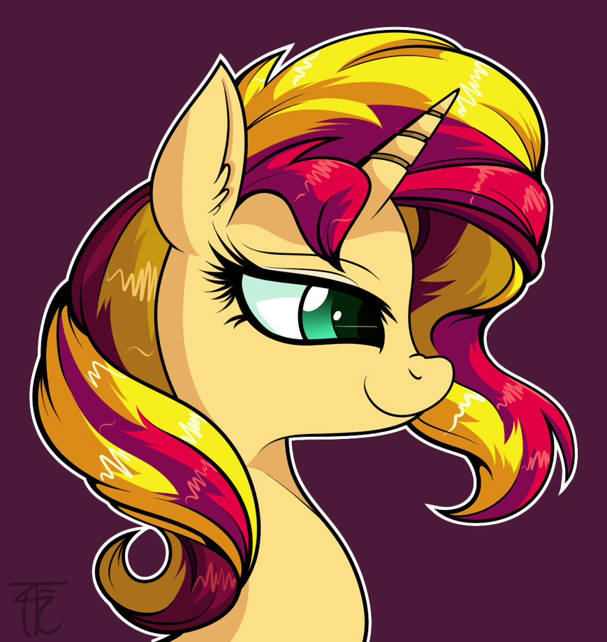 sunset_shimmer_portrait_by_wildberry_pop