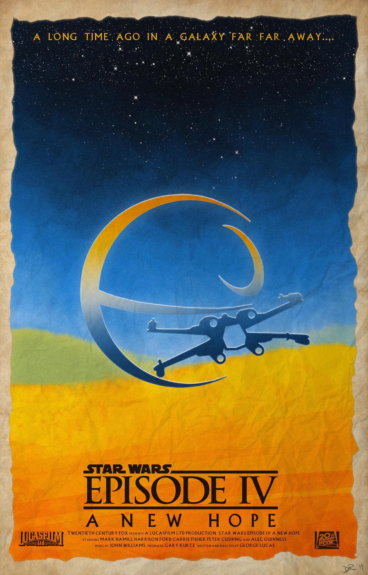 Star Wars Episode Iv A New Hope Poster By Danieleredrossini On Deviantart