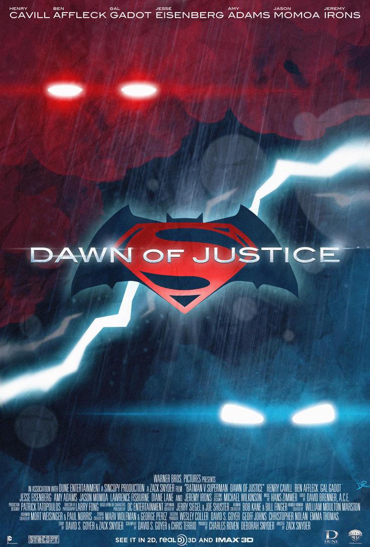 Batman V Superman Dawn Of Justice Poster By DanieleRedRossini